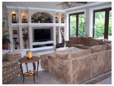 PASCH FAMILY ROOM WITH BUILT IN ENTERTANMENT CENTER